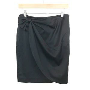 Calvin Klein Bow Pencil Skirt Black
